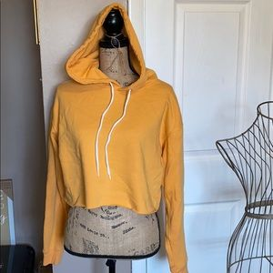 Wild fable cropped hoodie raw yellowish orange Med